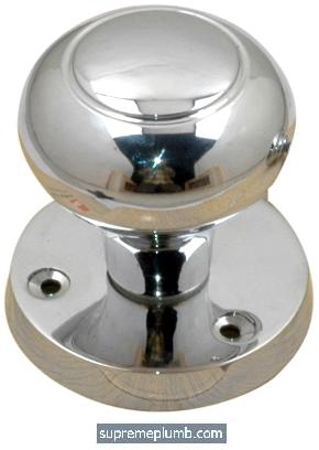 Malta Mortice Knob Chrome Plated